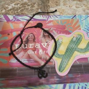 Pura Vida Black OHM Seed Bead Bracelet